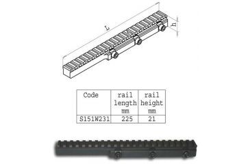 Sako Sako Trg High Picatinny Rail 225mm Long S151w231