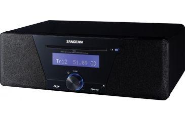 Sangean AM/FM RDS Digital Tuning, CD/SD/USB MP3, Multi Funtion Remote, Black WR-3