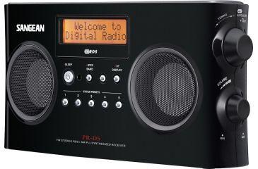 Sangean AM/FM Stereo RDS Digital Tuning, Portable Receiver, Alarm, Black PR-D5 BK