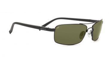 Serengeti Pareto Sunglasses - Satin Black Frame, Polar PhD 555nm Lenses 7573