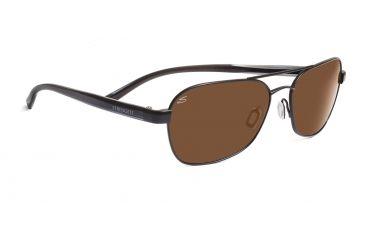 Serengeti Volterra Sunglasses - Satin Black/Gray Stripe Frame, Drivers Polarized Lenses 7594