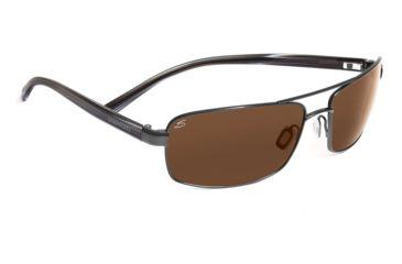 Serengeti Volterra Sunglasses - Shiny Silver/Black Ivory Frame, 555nm Lenses 7596
