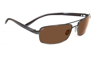 Serengeti San Remo Sunglasses - Shiny Gunmetal/Gray Stripe Frame, Drivers Lenses 7608