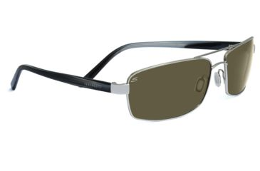 Serengeti San Remo Sunglasses - Shiny Silver/Smoke Stripe Frame, 555nm Lenses 7610