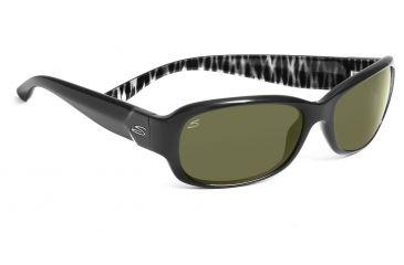 Serengeti Chloe Sunglasses - Shiny Black Zebra Frame, 555nm Polarized Lenses 7622