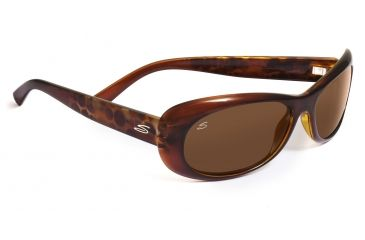 Serengeti Bella Sunglasses - Shiny Bubble Tortoise Frame, Drivers Polarized Lenses 7627