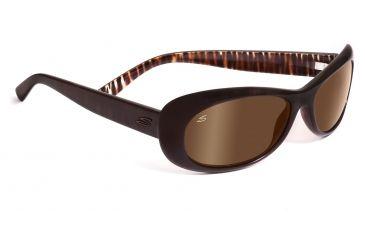 Serengeti San Remo Sunglasses - Satin Black/Gray Stripe Frame, Drivers Polarized Lenses 7605