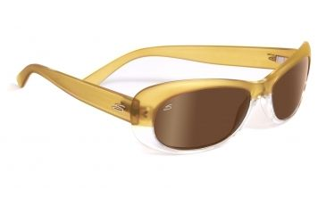 Serengeti Bella Sunglasses - Satin Shiny Champagne Frame, Drivers Gold Polarized Lenses 7631