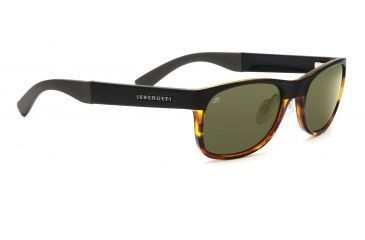 Serengeti Levanto Sunglasses - Satin Black Frame, 555nm Polarized Lenses 7586