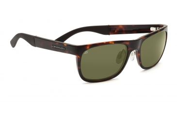 Serengeti Nico Sunglasses - Dark Tortoise Frame, 555nm Polarized Lenses 7642