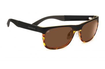 Serengeti Bella Sunglasses - Shiny Black Zebra Frame, 555nm Lenses 7628