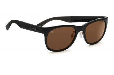 Serengeti Piero Sunglasses - Shiny Black Frame, Drivers Polarized Lenses 7634