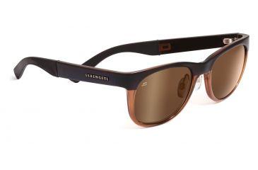 Serengeti Piero Sunglasses - Satin Black/Shiny Tort Frame, 555nm Polarized Lenses 7640