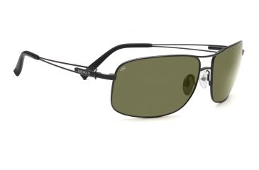 Serengeti Sassari Sunglasses - Satin Black Frame, 555nm Polarized Lenses 7664