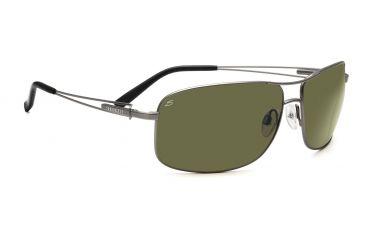 Serengeti Nico Sunglasses - Satin Dark Brown/Shiny Cognac Frame, Drivers Gold Polarized Lenses 7643