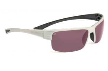 Serengeti Corrente Sunglasses - Metallic Pearl/Black Frame, Polar PhD 555nm Lenses 7695