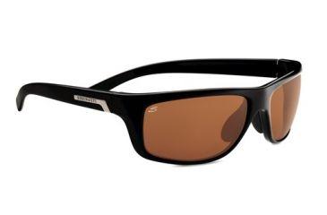 Serengeti Assisi Sunglasses -  Shiny Satin Black Frame and Polar PhD Drivers Lens 7753