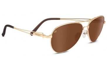 f379d952fb0d Serengeti Brando Single Vision Prescription Sunglasses, Shiny Bold Gold  Frame, 8456SV