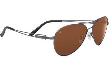 Serengeti Brando Single Vision Rx Sunglasses Velvet Gunmetal Frame 7541
