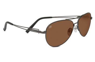 Serengeti Brando Sunglasses, Pilot Shiny Dark Gunmetal Frame, Drivers Lens 7885