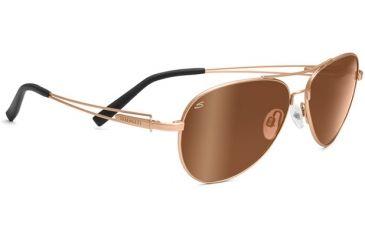 Serengeti Brando Sunglasses Velvet Gold Frame Drivers Gold Polarized Lenses 7700