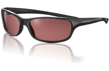 Serengeti Cascade Sunglasses Shiny Black Frame Sedona Polarized Lens 6942