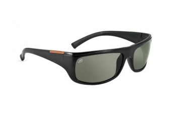 Serengeti Cetera Single Vision Rx Sunglasses - Shiny Black 7338