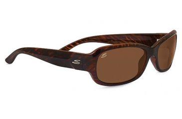 Serengeti Chloe Sunglasses, Cosmopolitan Shiny Dark Brown Stripe Tortoise Fram 7912