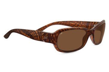 Serengeti Chloe Sunglasses, Cosmopolitan Shiny Honey Stripe Tortoise Frame, Po 7911