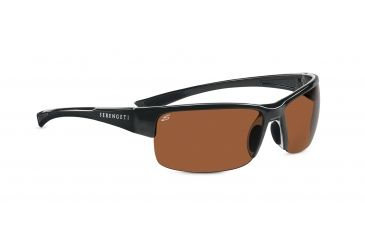 Serengeti Corrente Sunglasses - Shiny Hematite/Crystal Clear Frame, Polar PhD Drivers Lenses 7697