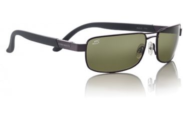 1-Serengeti Paolo Sunglasses - Satin Medium Gun Frame, 555nm Polarized Lens 7191
