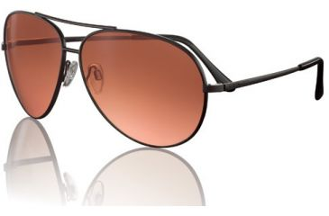 Serengeti Large Aviator Rx Sunglasses Matte Black Frame 5222
