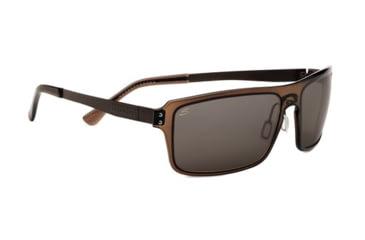 Serengeti Duccio Sunglasses - Crystal Dark Brown Frame and Polar PhD CPG Lens 7811