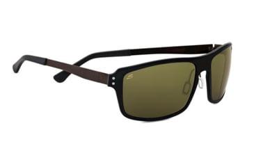 Serengeti Duccio Sunglasses - Satin Black Frame and Polar PhD 555nm Lens 7817