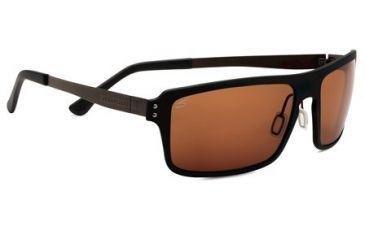 Serengeti Duccio Sunglasses - Satin Black Frame and Polar PhD Drivers Lens 7812