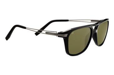 Serengeti Empoli Sunglasses - Shiny Black Frame and Polarized 555nm Lens 7762