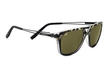 Serengeti Empoli Sunglasses - Satin Black Tortoise Frame and Polarized 555nm Lens 7764