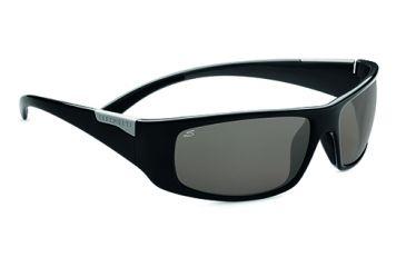 Serengeti Fasano Single Vision Prescription Sunglasses, Shiny Black Grey Frame-7751SV