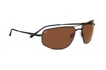 Serengeti Nico Sunglasses - Shiny Black Frame, 555nm Lenses 7645