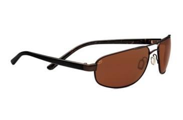Serengeti Livigno Sunglasses - Satin Dark Brown / Black  Brown Tort Frame and Polarized Drivers Lens 7771