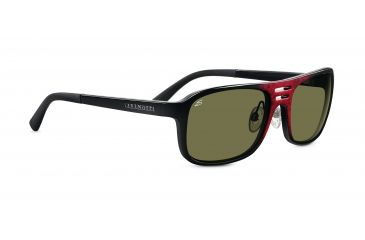 Serengeti Lorenzo Sunglasses - Shiny Red Granite Frame, 555nm Lenses 7654