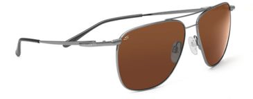 Serengeti Marco Single Vision Rx Sunglasses Shiny Gunmetal Frame 7547