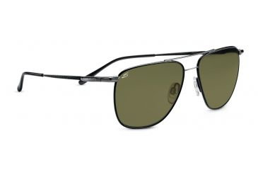 Serengeti Marco Sunglasses - Black Tannery Gunmetal Frame, 555nm Polarized Lenses 7546