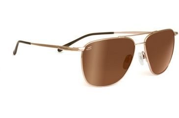 Serengeti Marco Sunglasses Shiny Gold Frame Drivers Gold Polarized Lenses 7715