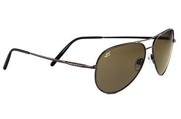 Serengeti Medium Aviator Progressive Rx Sunglasses - Shiny Gun Frame