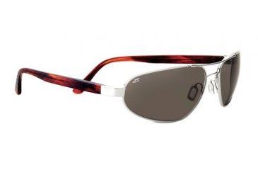 Serengeti Monza Sunglasses - Shiny Silver/Deep Red Brown Laser Frame and Polar PhD CPG Lens 7791