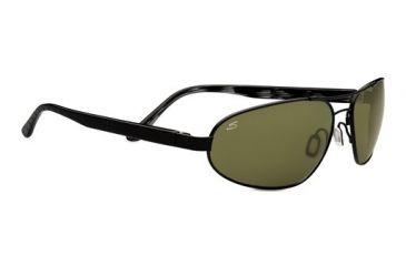 Serengeti Monza Sunglasses - Satin Black/Black Tortoise Laser Frame and Polar PhD 555nm Lens 7793