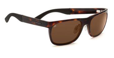 Serengeti Nico Single Vision Prescription Sunglasses, Dark Tortoise Frame-7644SV