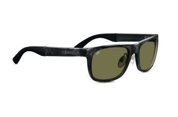 Serengeti Nico Sunglasses - Shiny Gray Marble Frame, 555nm Polarized Lenses 7647