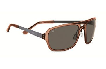 Serengeti Nunzio Single Vision Prescription Sunglasses, Crystal Dark Brown Frame-7834SV